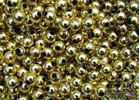 Бусины, цвет золото, 50 шт.