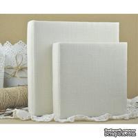 Альбом от Светланы Ковтун в классическом переплете с тканевым покрытием, лен молочный, 30х30 см, 4 разворота, расст. 1 см