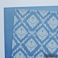 Лист дизайнерской бумаги с рисунком Роскошно 3, цвет Сапфир, А4