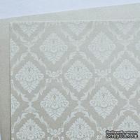Лист дизайнерской бумаги с рисунком Роскошно 3, цвет Жемчуг 2, А4
