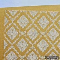 Лист дизайнерской бумаги с рисунком Роскошно 3, цвет Золото 2, А4