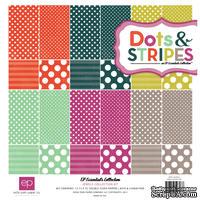 """Набор бумаги от Echo Park """"Dots & Stripes – Jewels"""", 30х30, 12 листов"""