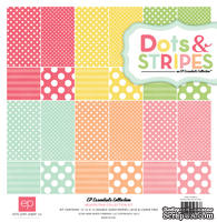 "Набор бумаги от Echo Park ""Dots and stripes Napolian Collection Kit"", 30x30, 12 листов"