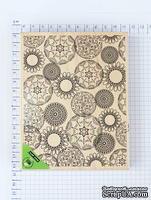 КОМИССИОНКА  Б/У- Резиновый штамп Hero Arts - Artistic Circle, на деревянном блоке, размер 11х14,5 см.