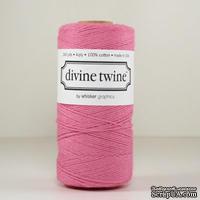 Хлопковый шнур от Divine Twine - Pink Solid, 1 мм, цвет розовый, 1м