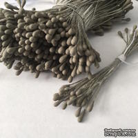 Тычинки, цвет серо-коричневый, диаметр 1.5 мм, 50 шт.