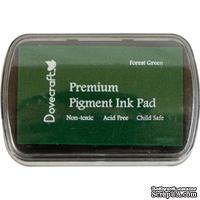 Штемпельная подушечка Dovecraft Pigment Ink Pads - Forest Green, цвет темно-зеленый