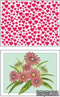 Доска для тиснения Hearts/Flowers от Cheery Lynn Designs