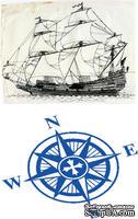 Доска для тиснения Sailing Ship/Compass от Cheery Lynn Designs