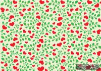 Доска для тиснения Hearts and rose leaves от Cheery Lynn Designs