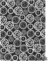 Пластина для эмбоссинга от Cheery Lynn Designs - Clocks Embossing Plate