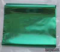 "Фольга на плёнке - ""Зеленая"", ширина 10 см, длина 1 м."