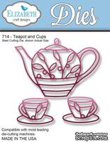 Нож  от   Elizabeth  Craft  Designs  -  Teapot  and  Cups,  3  элемента.