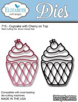 Нож  от   Elizabeth  Craft  Designs  -  Cupcake  with  a  Cherry  on  Top,  2  элемента.