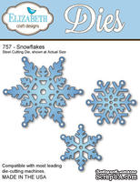 Нож  от   Elizabeth  Craft  Designs  -  New  Snowflakes,  3  элемента.
