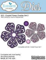 Ножи от Elizabeth Craft Designs - Crystal Flower Overlay Set 2