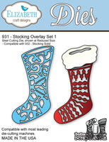 Ножи от Elizabeth Craft Designs - Stocking Overlay Set 1