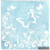 Папка для тиснения Nellie Snellen - Embossing Folder - Butterfly Swirl