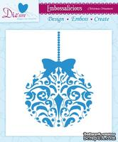 Папка для тиснения от Crafter's Companion - Embossalicious Embossing Folder - Christmas Ornament15x15 см