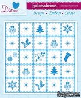 Папка для тиснения от Crafter's Companion - Embossalicious Embossing Folder - Christmas Patchwork15x15 см