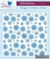 Папка для тиснения и эмбоссинга Darice - Embossalicious Embossing Folder - LET IT SNOW, 15x15 см