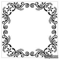 Папка для тиснения Nellie Snellen - Embossing Folder - Flower Christmas Frame (Square)