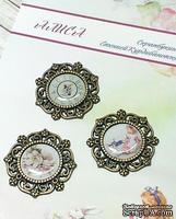 Эпоксидные наклейки в металлической оправе от ТМ Евгения Курдибановская - Алиса, 3 шт.