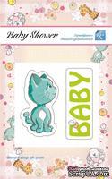 Эпоксидные наклеечки с котиком от Евгения Курдибановская ТМ - Baby Shower