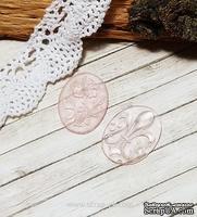 Камеи от Евгения Курдибановская ТМ, мини розовые, прозрачная смола