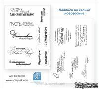 """Набор надписей на кальке от Евгения Курдибановская ТМ - """"С новым годом"""" , А5, 2 листа"""