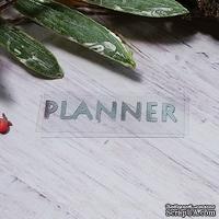 """Термонадпись """"Planner"""" №1, серебро"""