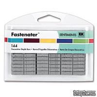Набор скобок для степлера с надписями от EK Tools, цвет серебро