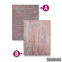 Папки для тиснения от Spellbinders - Bricks and Bark, 2 шт.
