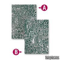 Папка для тиснения от Spellbinders - Numbers and Letters