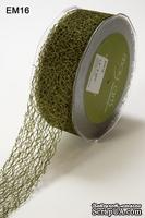 """Ленточка """"Паутинка"""", цвет оливковый, ширина 38 мм, длина 90 см"""