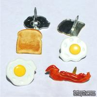 Набор брадсов Eyelet Outlet - Breakfast Brads, 12 штук - ScrapUA.com