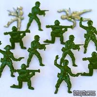 Набор брадсов Eyelet Outlet - Army Men Brads, 12 штук