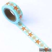 Бумажный скотч Eyelet Outlet - Shell Washi Tape, 10 м х 15 мм