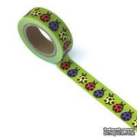 Бумажный скотч Eyelet Outlet - Ladybug Washi Tape, 10 м х 15 мм