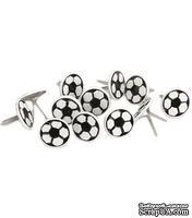 Набор брадсов Eyelet Outlet - Ball Brads Soccer Balls, 12 штук