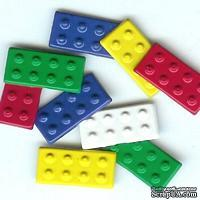 Набор брадсов Eyelet Outlet - Building Block Brads, 12 штук
