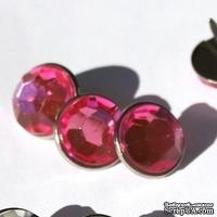 Набор брадсов Eyelet Outlet - Jewel Brads Pink, цвет розовый, 16 мм, 10 штук