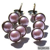 Набор брадсов Eyelet Outlet - Pearl Brads Purple, цвет сиреневый, 12 мм, 10 штук