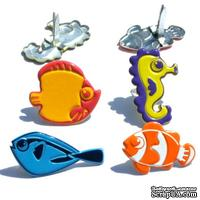 Набор брадсов Eyelet Outlet - Fun Fish Brads, 12 штук