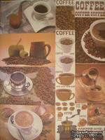 """Бумага для декупажа """"Кофе"""", размер: 28х38 см, ЕВ-Д006"""