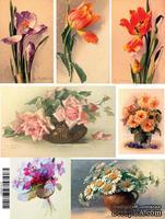"""Бумага для декупажа """"Цветы"""", размер: 28х38 см"""