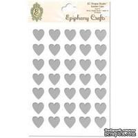 Прозрачные эпоксидные наклейки Epiphany Crafts - Bubble Caps Clear Heart 14