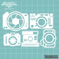 Чипборд от Вензелик - Набор фотоаппаратов 02, размер: от 3,1 до 4,7 см