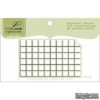 Акриловый штамп Lesia Zgharda F019 Для создания фона - Тетрадь в клеточку, размер 5х3 см