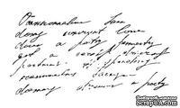 Акриловый штамп F031 Рукописный текст, размер 9,8 * 5,1 см